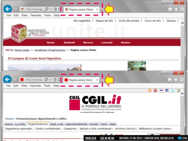 Piero ZILIO /204Oristano,27/06/2013| Scrivere peril web nella PA(CC)by-nc-nd 158