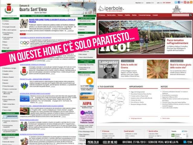 Piero ZILIO /204Oristano,27/06/2013| Scrivere peril web nella PA(CC)by-nc-nd 53
