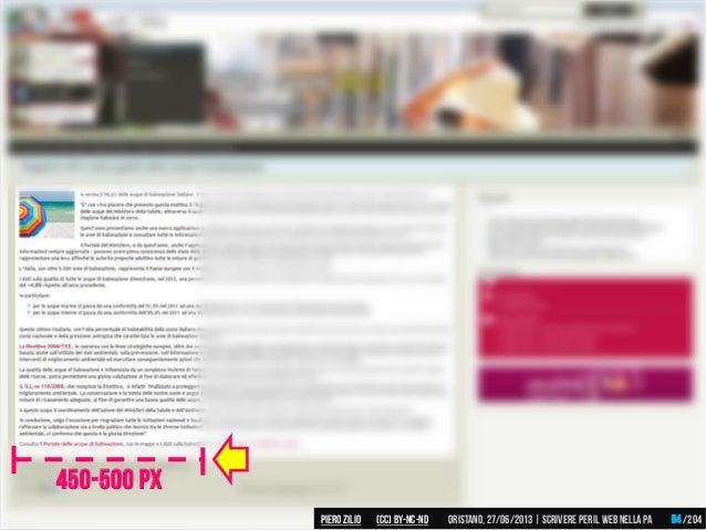 450-500 PX Piero ZILIO /204Oristano,27/06/2013| Scrivere peril web nella PA(CC)by-nc-nd 64