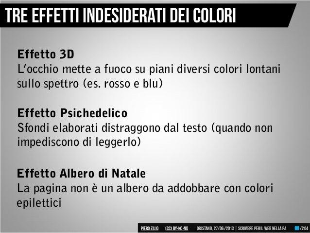 Effetto Albero di Natale La pagina non è un albero da addobbare con colori epilettici Tre effetti indesiderati dei Colori ...