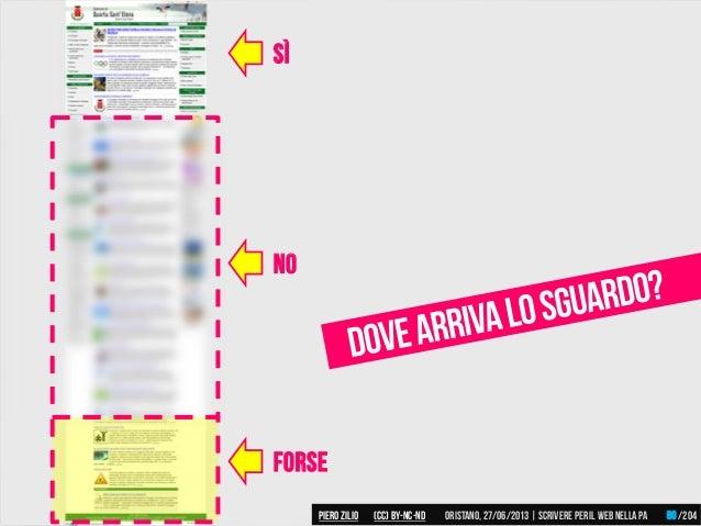 no forse Sì Piero ZILIO /204Oristano,27/06/2013| Scrivere peril web nella PA(CC)by-nc-nd 90