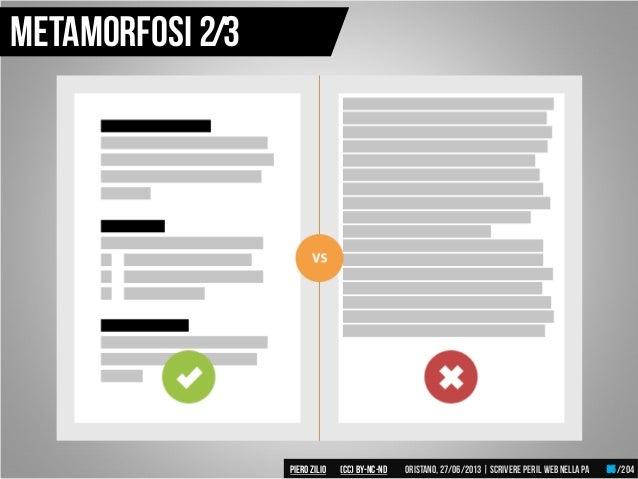 Metamorfosi 2/3 Piero ZILIO /204Oristano,27/06/2013| Scrivere peril web nella PA(CC)by-nc-nd 95