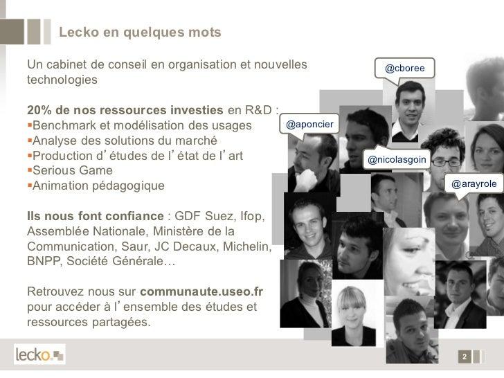 Entreprise 2.0 : Fondations du Social CRM Slide 2
