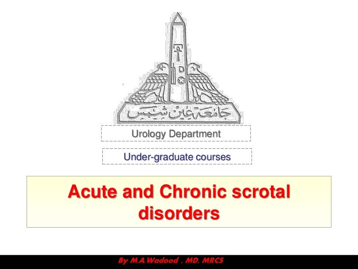 Urology Department      Under-graduate coursesAcute and Chronic scrotal        disorders