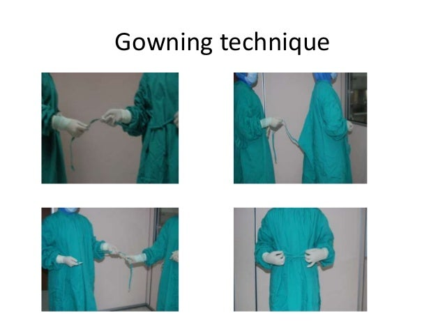 aseptic gowning technique