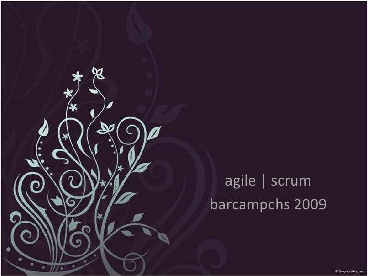 agile | scrum<br />barcampchs 2009<br />