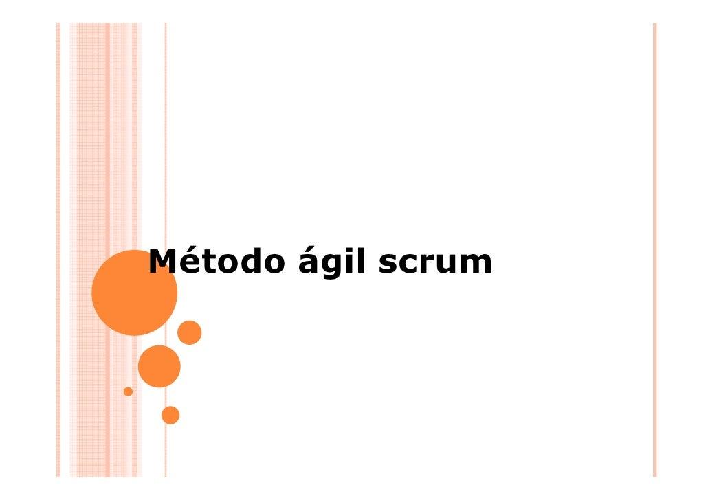 Método ágil scrum