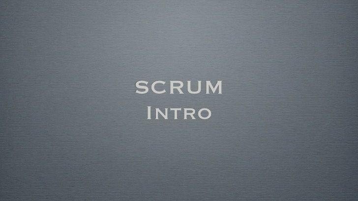 SCRUM Intro