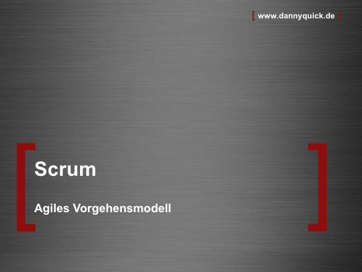 Scrum Agiles Vorgehensmodell