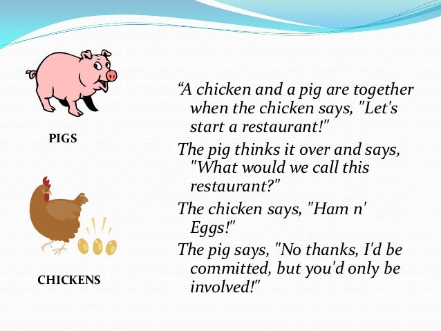 Parable The Pig And Chicken: Welcome To SCRUM