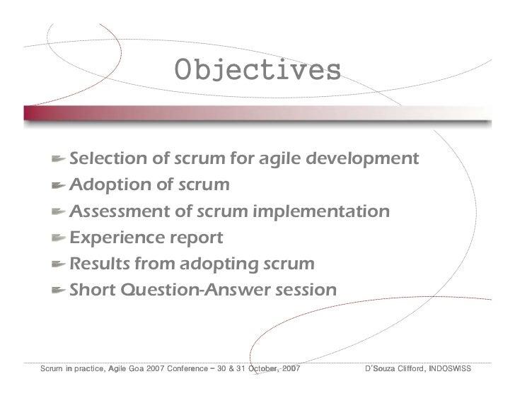 Scrum in Practice Slide 2