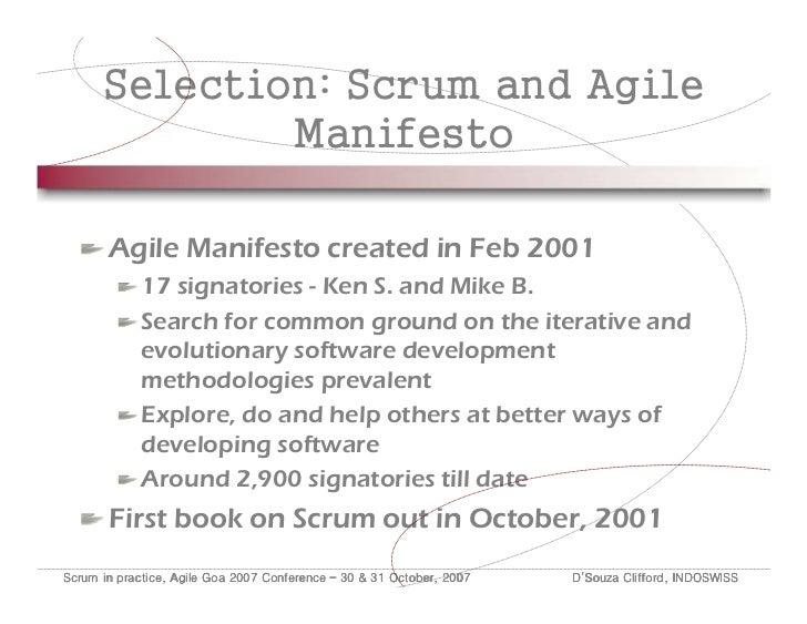 Examining the agile manifesto signatories
