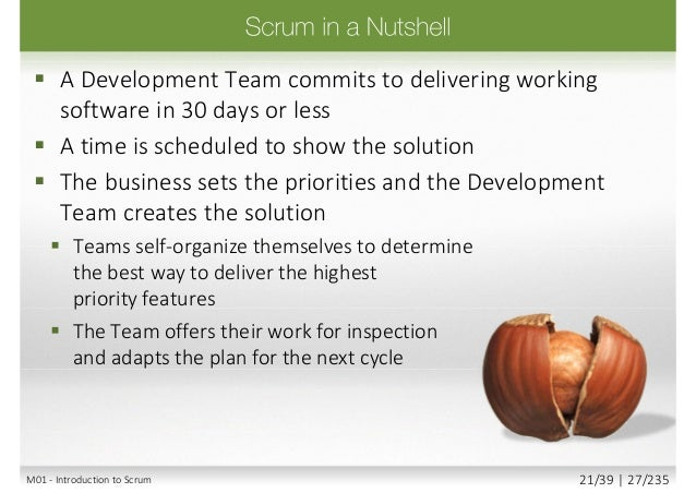Scrum Transparent InspectionAdaptation Check your work as you do it We all know what is going on Ok to change tactical dir...