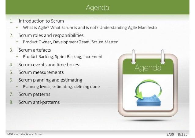 Agile Mindset 4 Agile Values 12 Agile Principles M01 - Introduction to Scrum 4/39 | 10/235