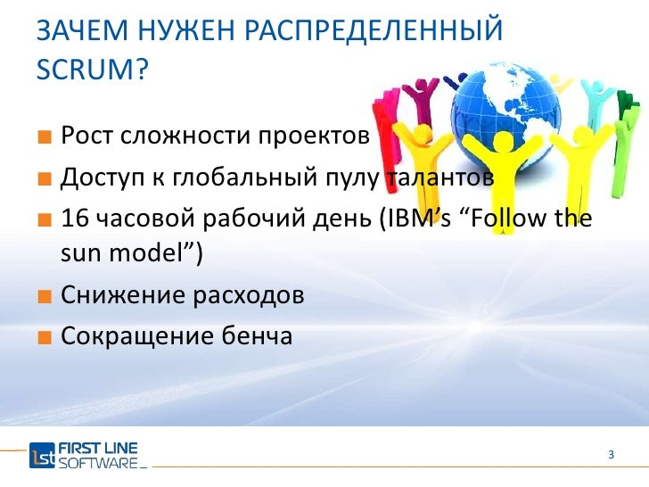 Распределенный SCRUM - to be or not to be collocated collocated Slide 3