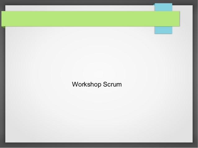 Workshop Scrum