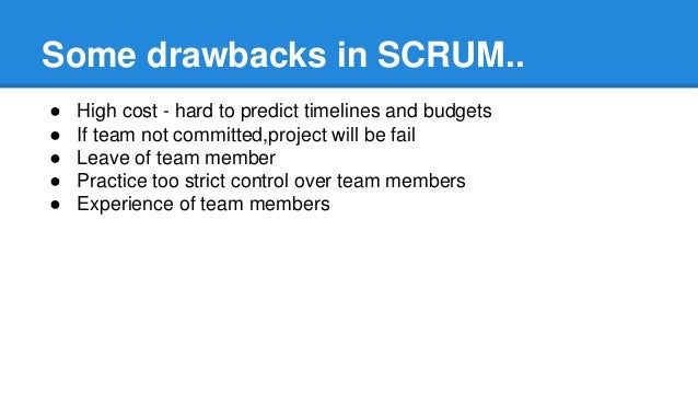 """scrum methodology current issues Scrum is the most popular agile method if you count all of the teams doing """"scrum butt"""" doing scrum really well is much harder and much rarer here is a list of 24 common scrum pitfalls or bad behaviours of scrum teams: try our automated online scrum coach: scrum insight - free scores."""