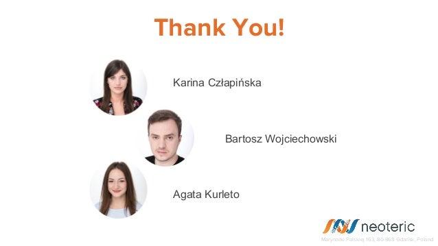 Thank You! Marynarki Polskiej 163, 80-868 Gdańsk, Poland Karina Człapińska Bartosz Wojciechowski Agata Kurleto