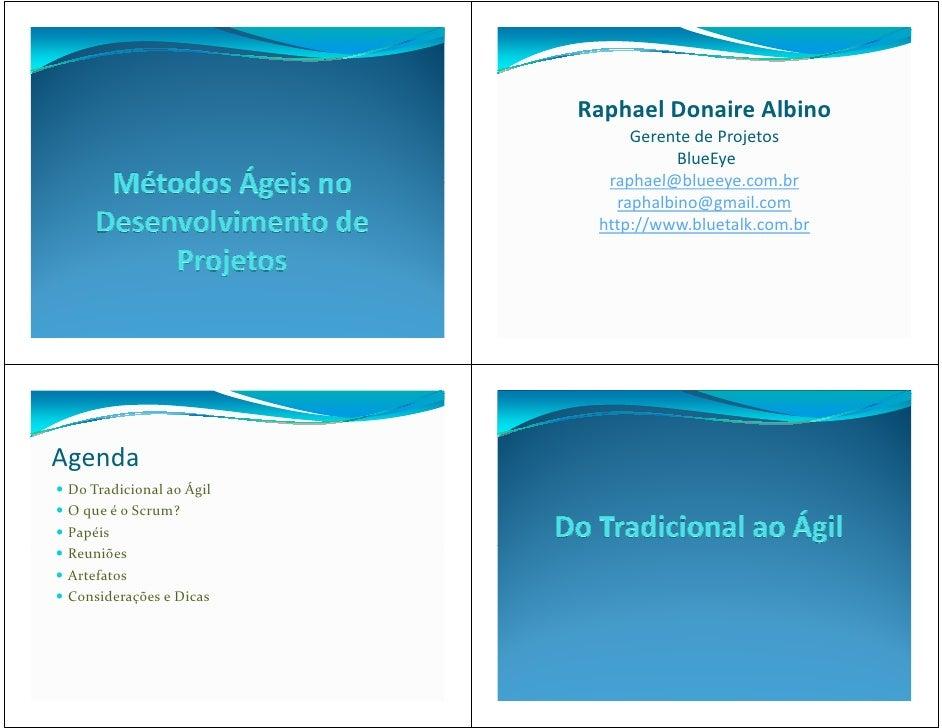 Raphael Donaire Albino                               Gerente de Projetos                                     BlueEye      ...