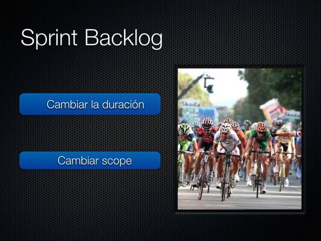 """Sprint Backlog  No haberla estimado en Story Points  Cambiar Ia duración  No comunicar el """"commitment""""  Cambiar scope  No ..."""