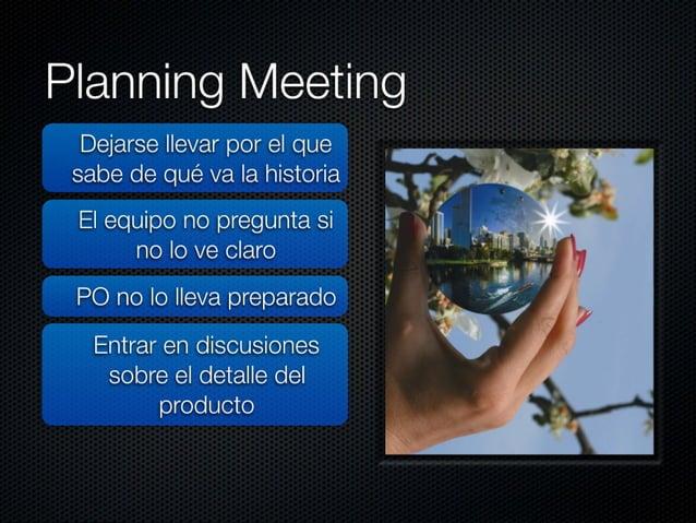 """Estimation Meeting  No involucrar a todos los  """"cerdos""""  No estimar las tareas (h)"""
