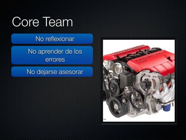 """Core Team  No reflexionar     No aprender de los  errores .  ,  No dejarse asesorar >  -"""" ¡f i' 'x.  N.  - : :_'<il({'. _-..."""