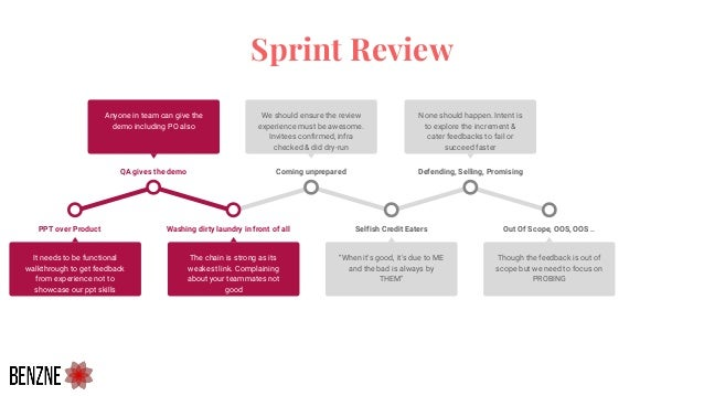 Sprint Review Washing dirty laundry in front of all The chain is strong as its weakest link. Complaining about your teamma...