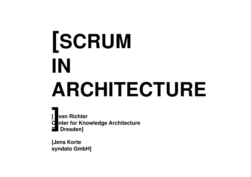 Scrum architekturstudium