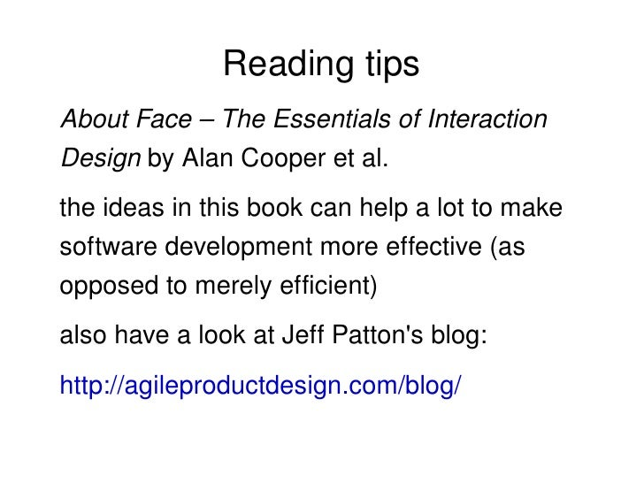 about face the essentials of interaction design alan cooper pdf
