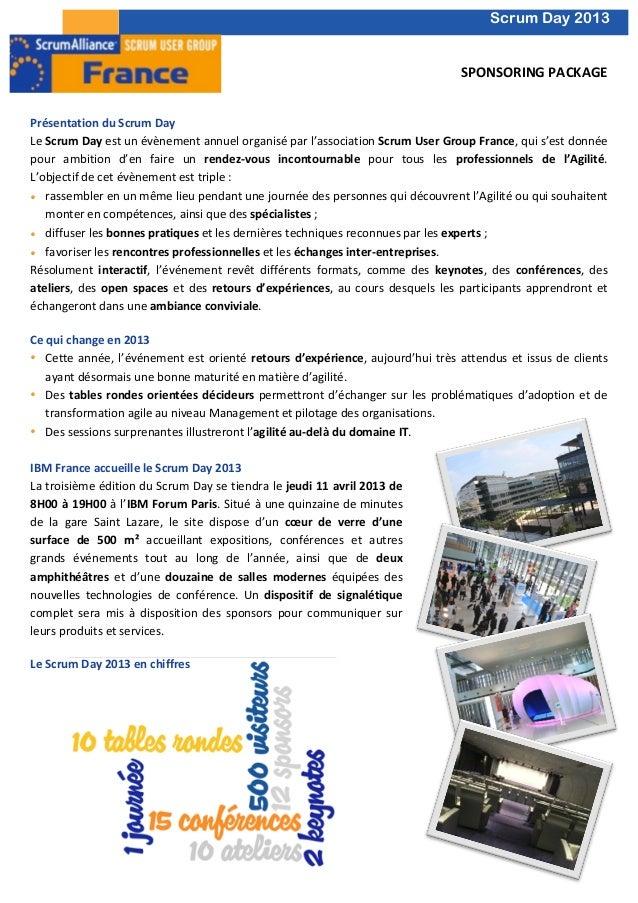 Scrum day 2013 sponsoring package Slide 1