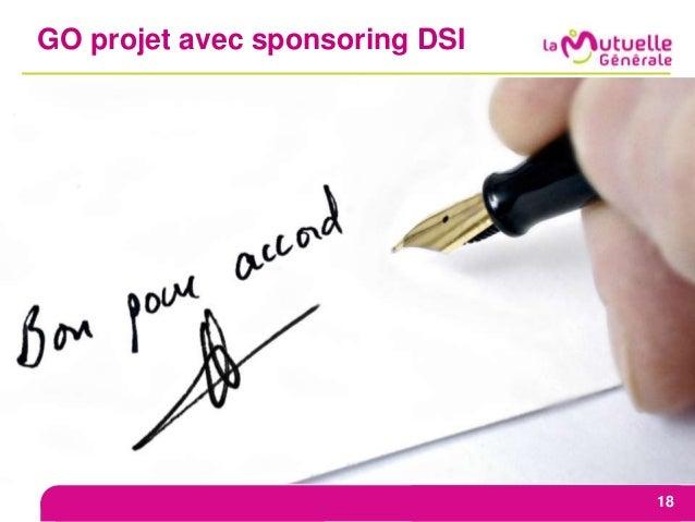 GO projet avec sponsoring DSI 18
