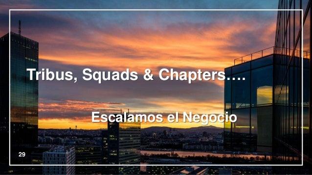 29 Tribus, Squads & Chapters…. Escalamos el Negocio