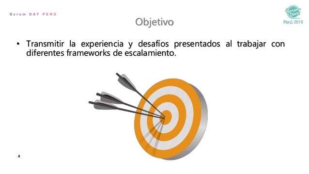 4 Objetivo • Transmitir la experiencia y desafíos presentados al trabajar con diferentes frameworks de escalamiento.
