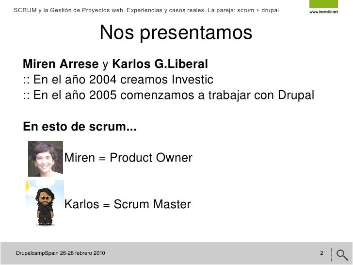 Scrum y la gestión de proyecto Web Slide 2
