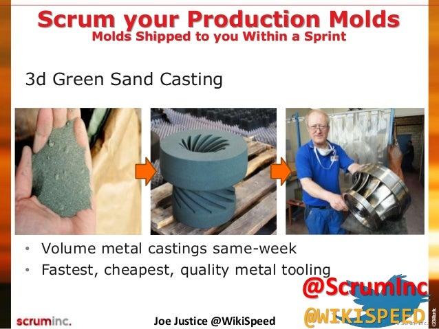 ©2014ScrumInc. 3d Green Sand Casting • Volume metal castings same-week • Fastest, cheapest, quality metal tooling Scrum yo...
