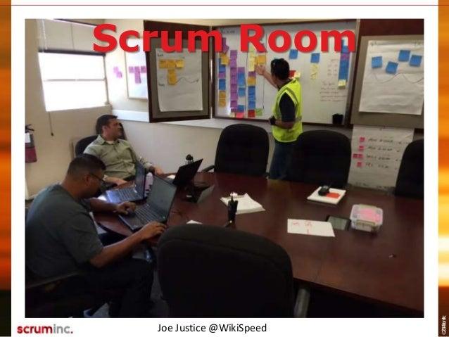 ©2014ScrumInc. Joe Justice @WikiSpeed Scrum Room