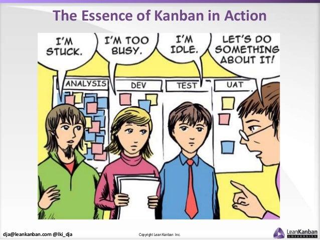 dja@leankanban.com @lki_dja Copyright Lean Kanban Inc. The Essence of Kanban in Action