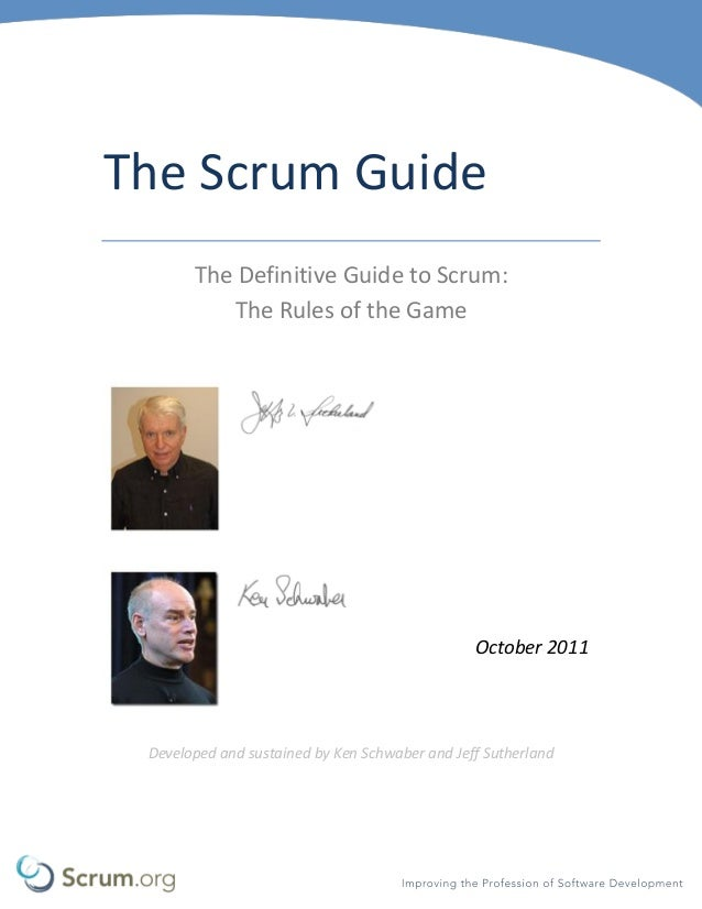scrum guide The scrum master is a servant-leader for the scrum team the scrum master helps those outside the scrum team understand which of their interactions with the scrum team are helpful and which aren't.