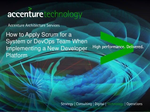 Scrum in dev ops teams - Presentation from Scrum Gathering