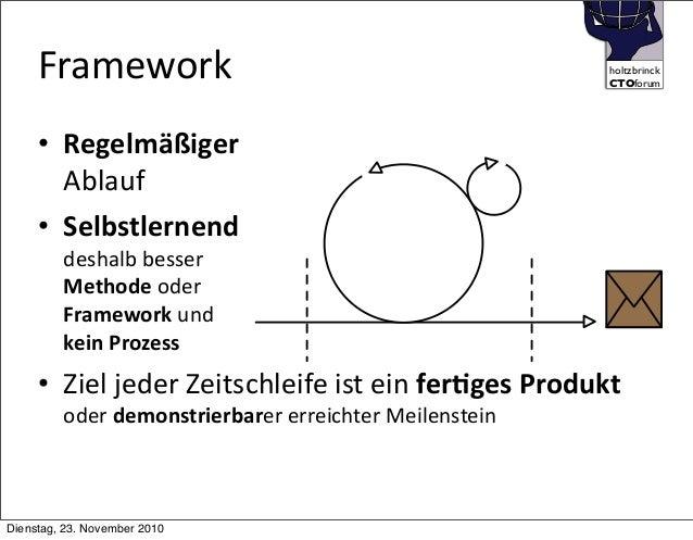 holtzbrinck CTOforum Framework • Regelmäßiger Ablauf • Selbstlernend deshalb  besser Methode  oder Framework  und ke...