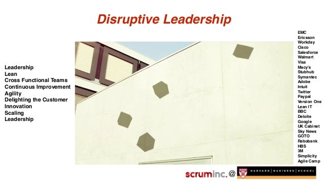 @ Disruptive Leadership Leadership Lean Cross Functional Teams Continuous Improvement Agility Delighting the Customer Inno...