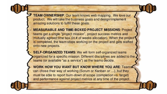 • REVIEW, DON'T SPECIFY: Teams review their work weekly with a product manager, but product managers are NOT allowed to wr...