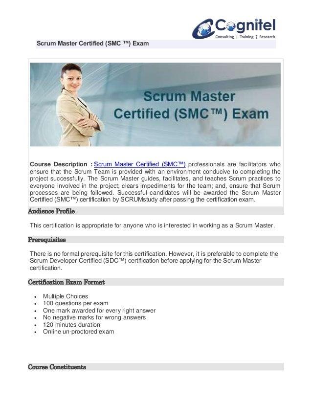 Scrum Master Certified Exam Smc