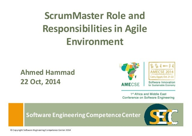 scrum master role and responsibilities in agile environment amecse