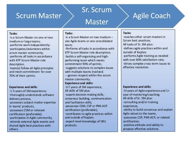 Scrum Master Role Or Responsibility