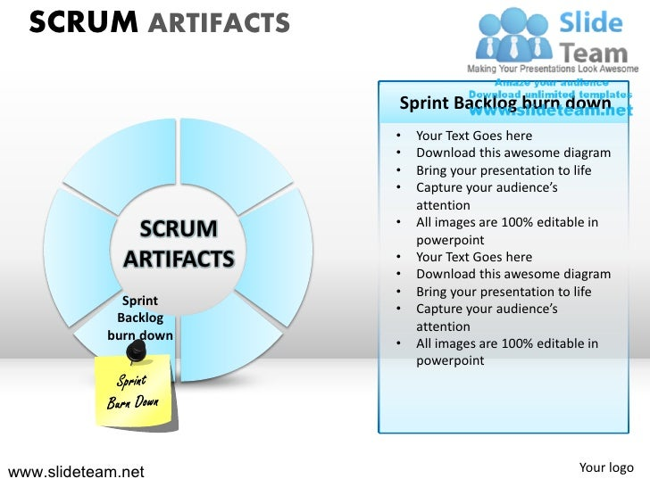Scrum strategy sprint cycles roles powerpoint ppt slides