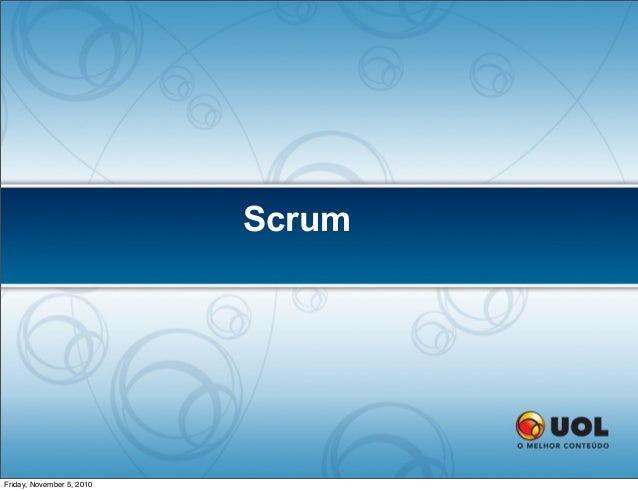 Scrum Friday, November 5, 2010