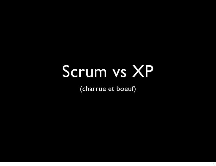 Scrum vs XP