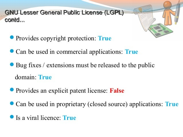 how to include lgpl license