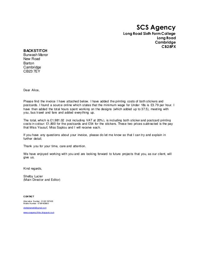 Cover letter for agency for Cover letter to send to recruitment agency